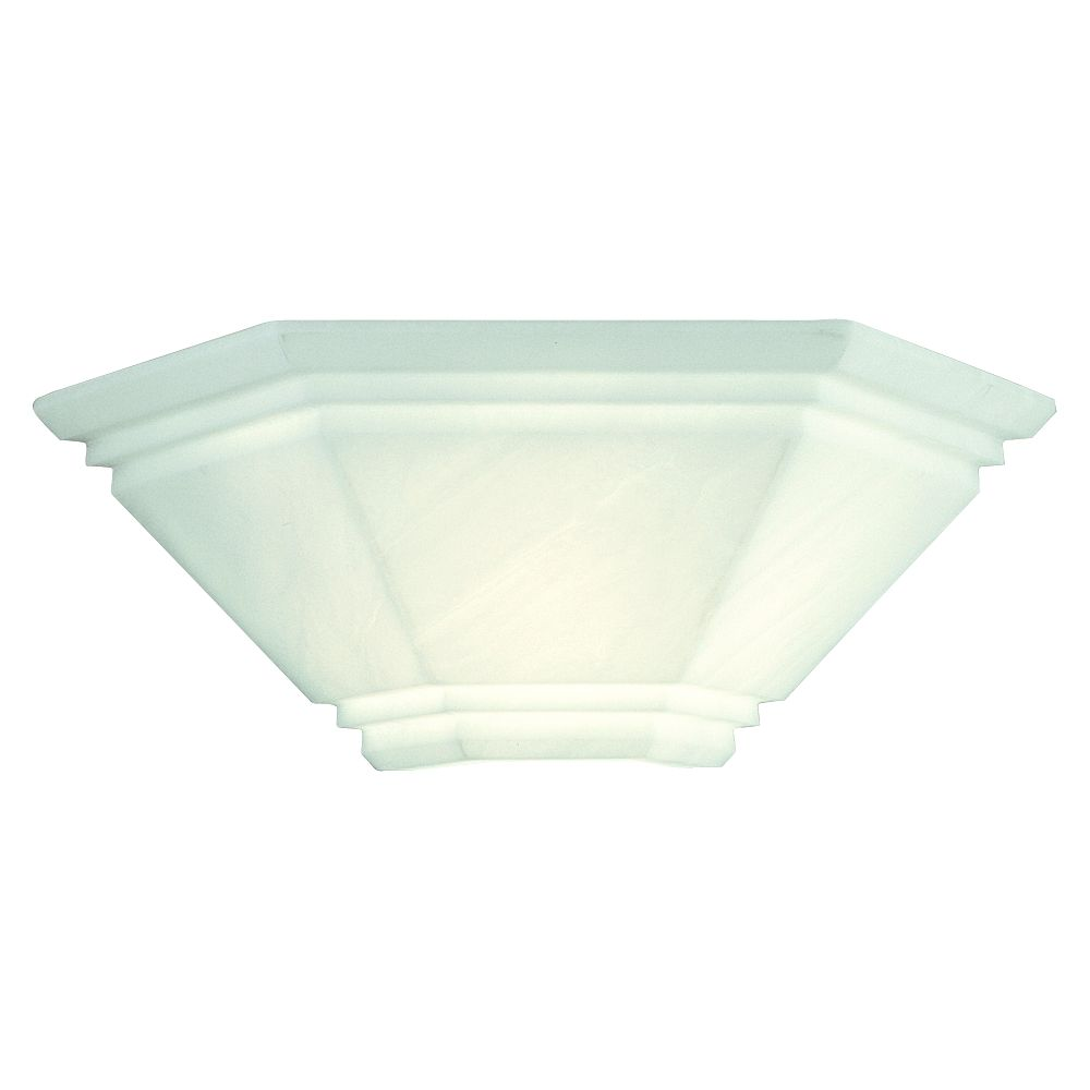 Faux Alabaster 1-light Wall Sconce