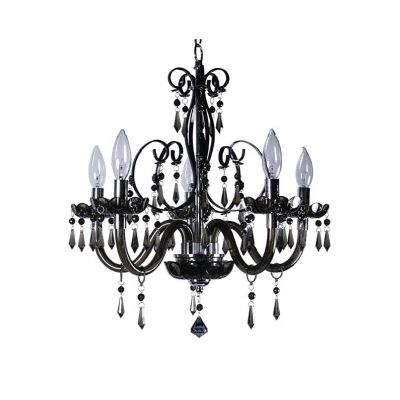Bella 5L Black Chandelier
