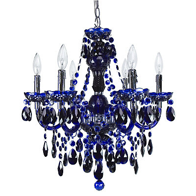 Titus manufacturing concerto lucite chandelier cobalt blue the concerto lucite chandelier cobalt blue aloadofball Image collections