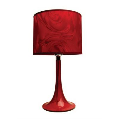 Moda Lucite Table Lamp: Ruby Red