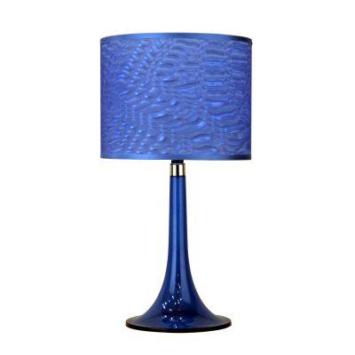 Lampe de table Moda en lucite, bleu cobalt