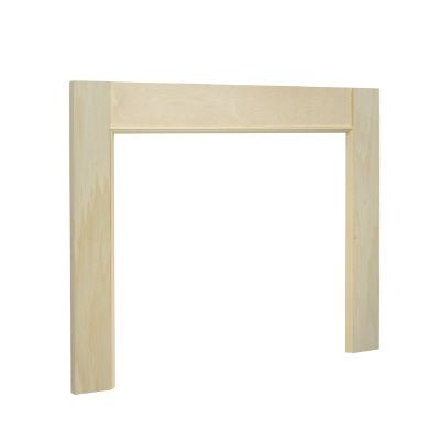 48 Inch Basic Mantle Surround, White Hardwood