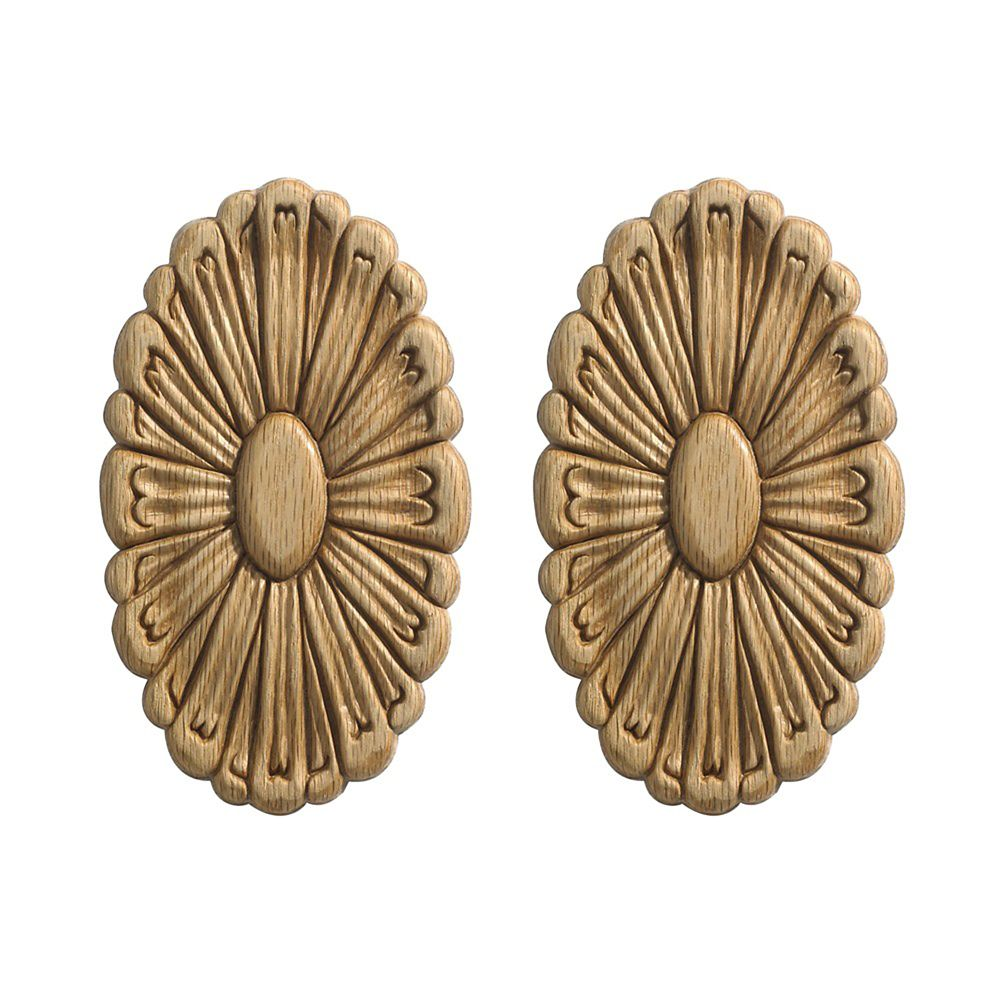Small Rosettes (2/card), Oak