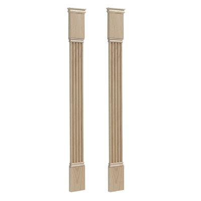 Trousse de pilastre cannelé classique, chêne