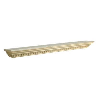 6 Ft. Dentil Mantel, White Hardwood