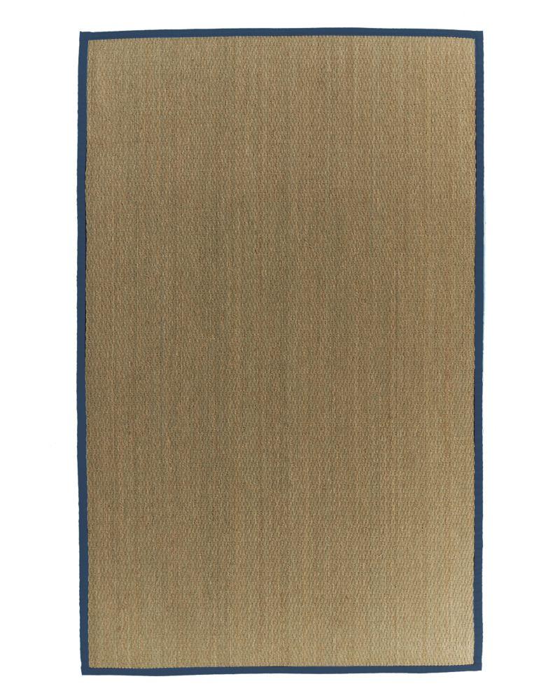 Lanart Rug Natural Seagrass Beige Tan 5 ft. x 8 ft. Indoor Textured Rectangular Area Rug