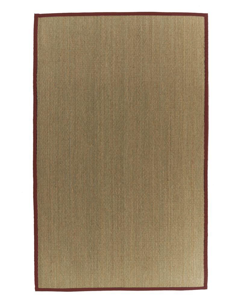 Seagrass 5x8 Bordure Rouge #61