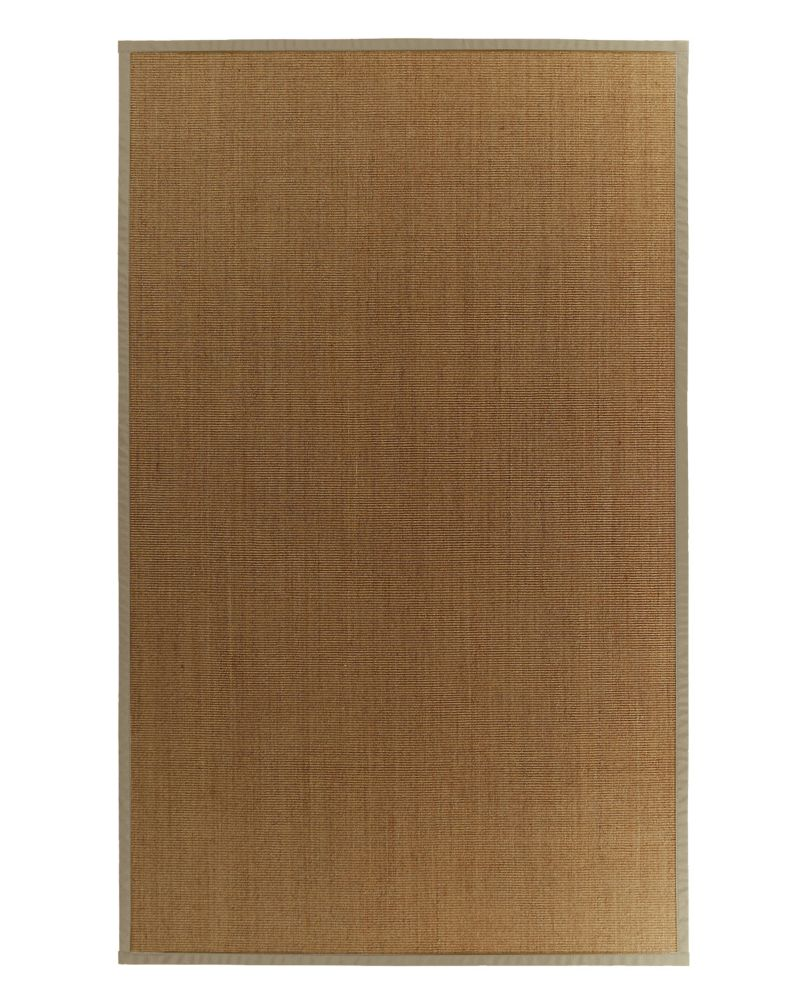 Natural Sisal Area Rug with Tan Border � 5 Ft. x 8 Ft.
