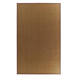 Lanart Rug Carpette d'intérieur, 5 pi. x 8 pi. tissage texturé, rectangulaire, sisal naturel, brun