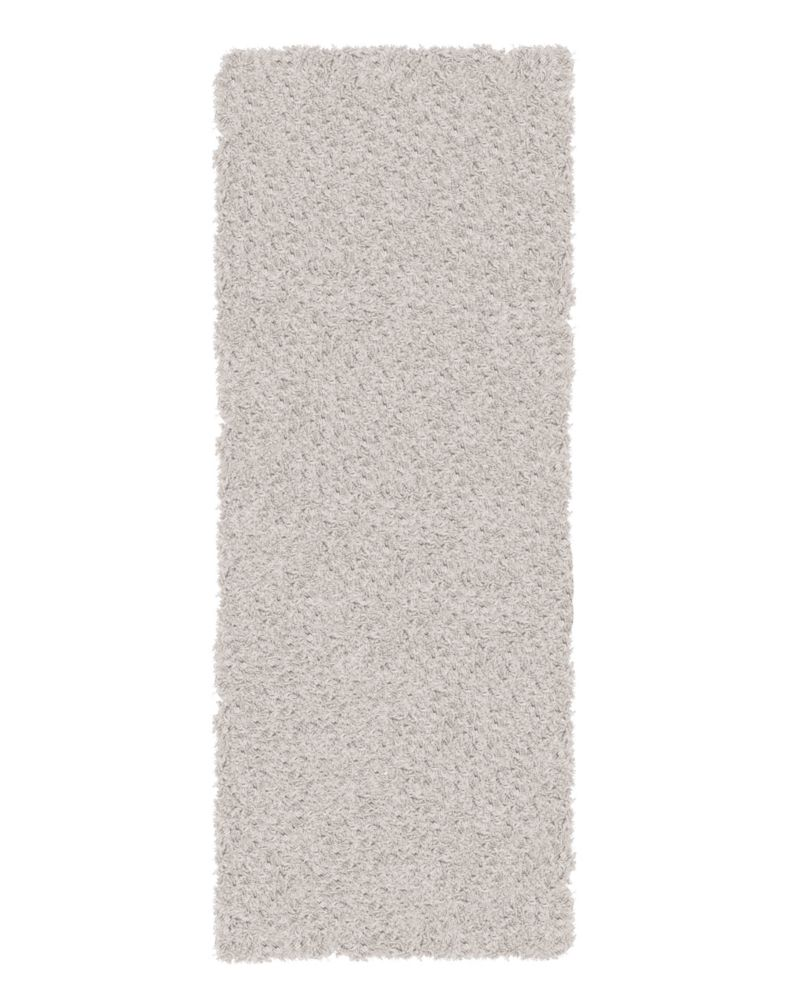 Shag-A-Liscious White 2 Ft. x 8 Ft. Area Rug
