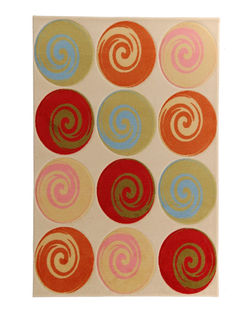Kids being Kids Lollipop Sorbet 4 Ft. x 6 Ft. Area Rug