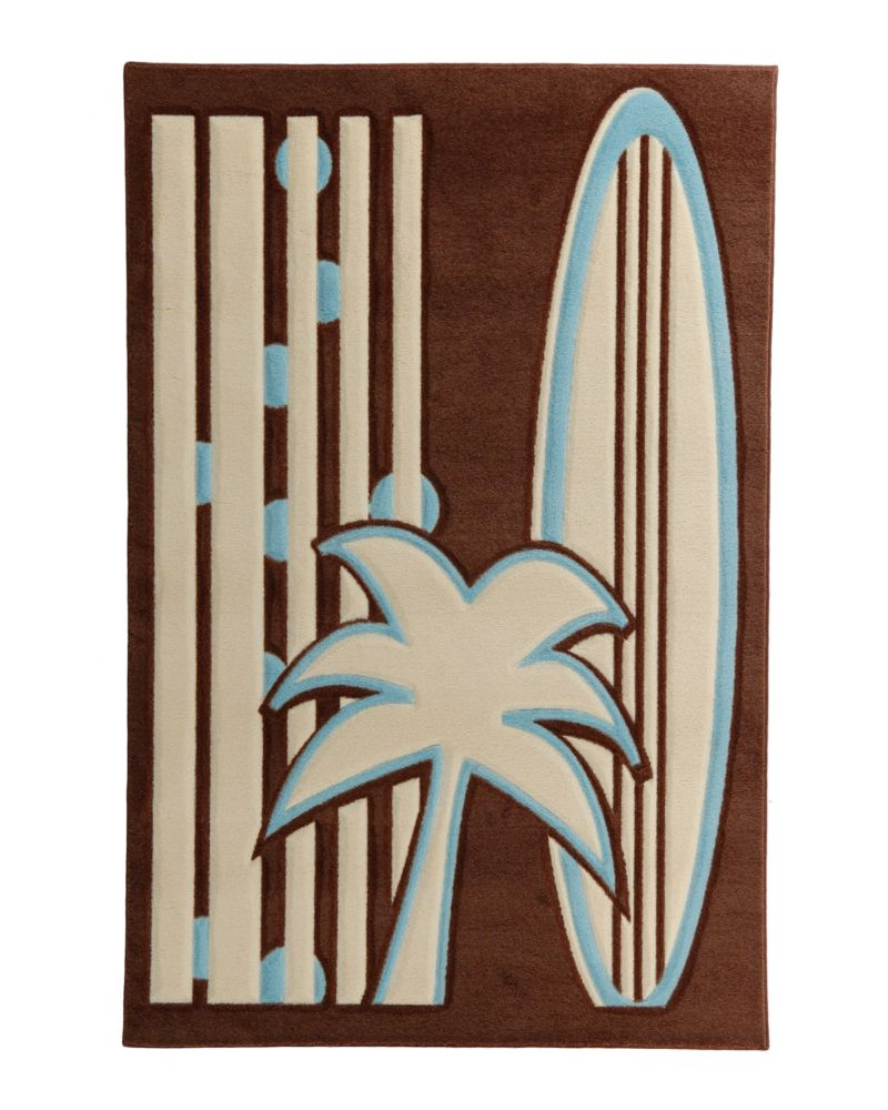 Kids being Kids Hawaï Tropical Blue 5 Ft. x 7 Ft. Area Rug