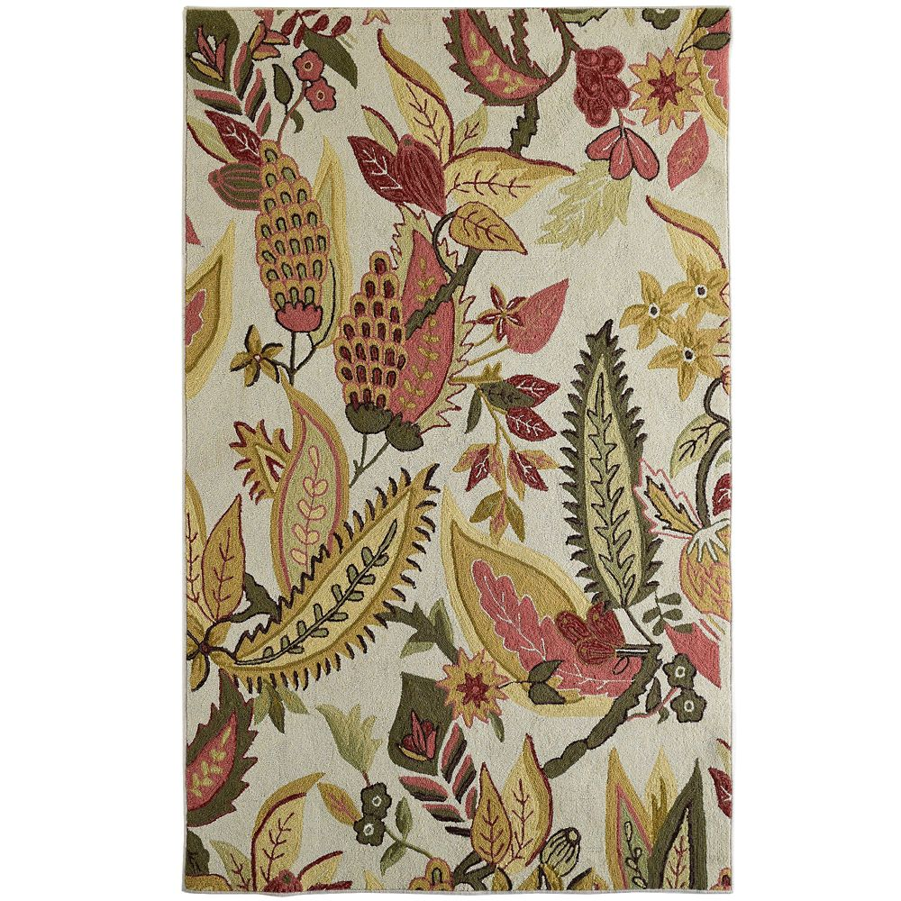 Autumn Cottage Chic 4 Ft. x 6 Ft. Area Rug