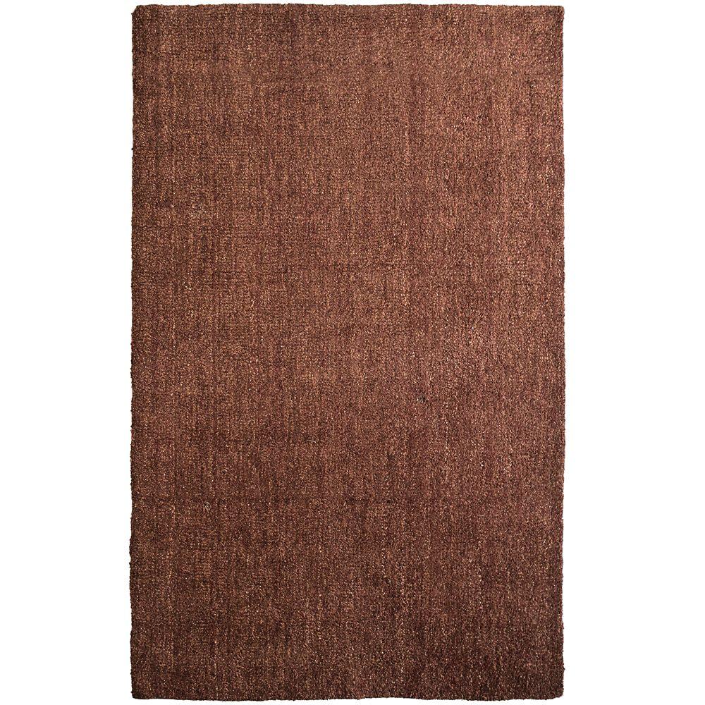 Lanart Rug Fleece Red 5 ft. x 8 ft. Indoor Textured Rectangular Area Rug