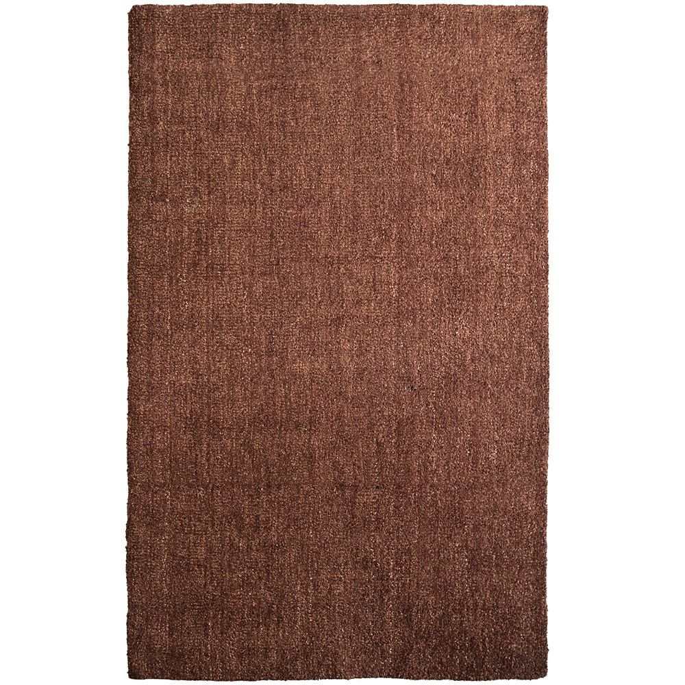 Rust Fleece 8 Ft. x 10 Ft. Area Rug