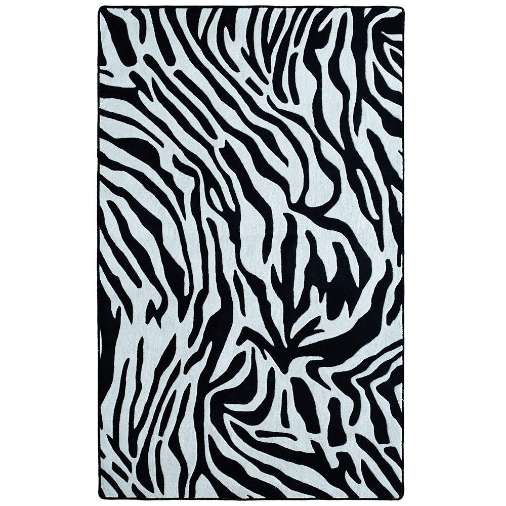 Zebra 5 Ft. x 8 Ft. Area Rug