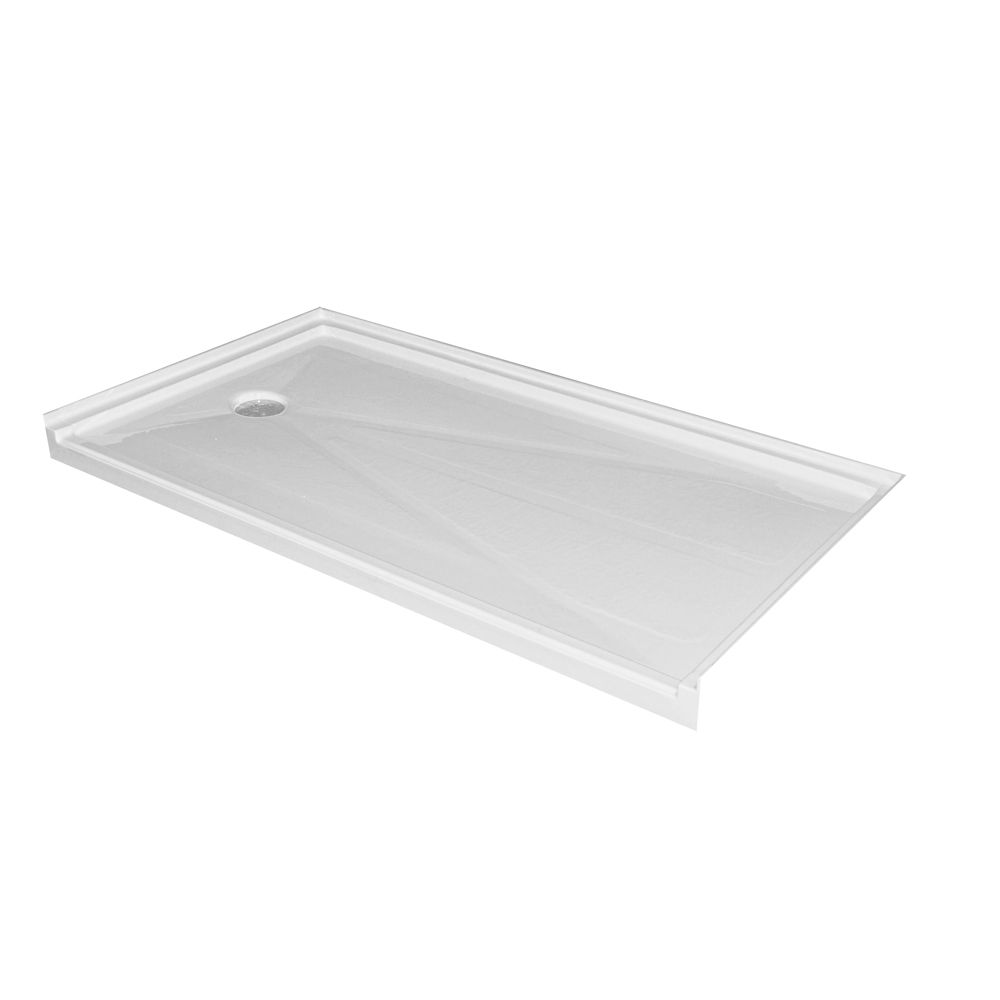 Single Threshold Barrier Free Shower Base with Left Hand Drain - 60 Inch x 32 Inch