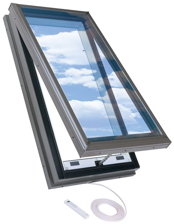 22.5-inch x 46.5-inch Curb Mount Electric Venting Skylight