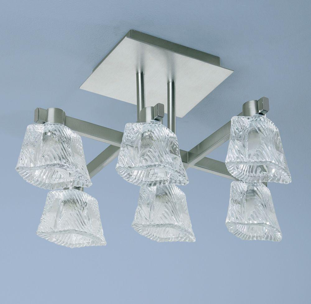 Semi-Plafonnier à 6 lumières, Collection Triton