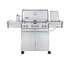 Summit S-470 4-Burner Propane Gas BBQ in Stainless Steel