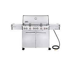 Summit S-670 6-Burner Natural Gas Grill in Stainless Steel