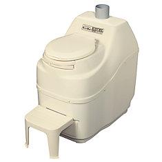 Excel AC/DC Composting Toilet in Bone