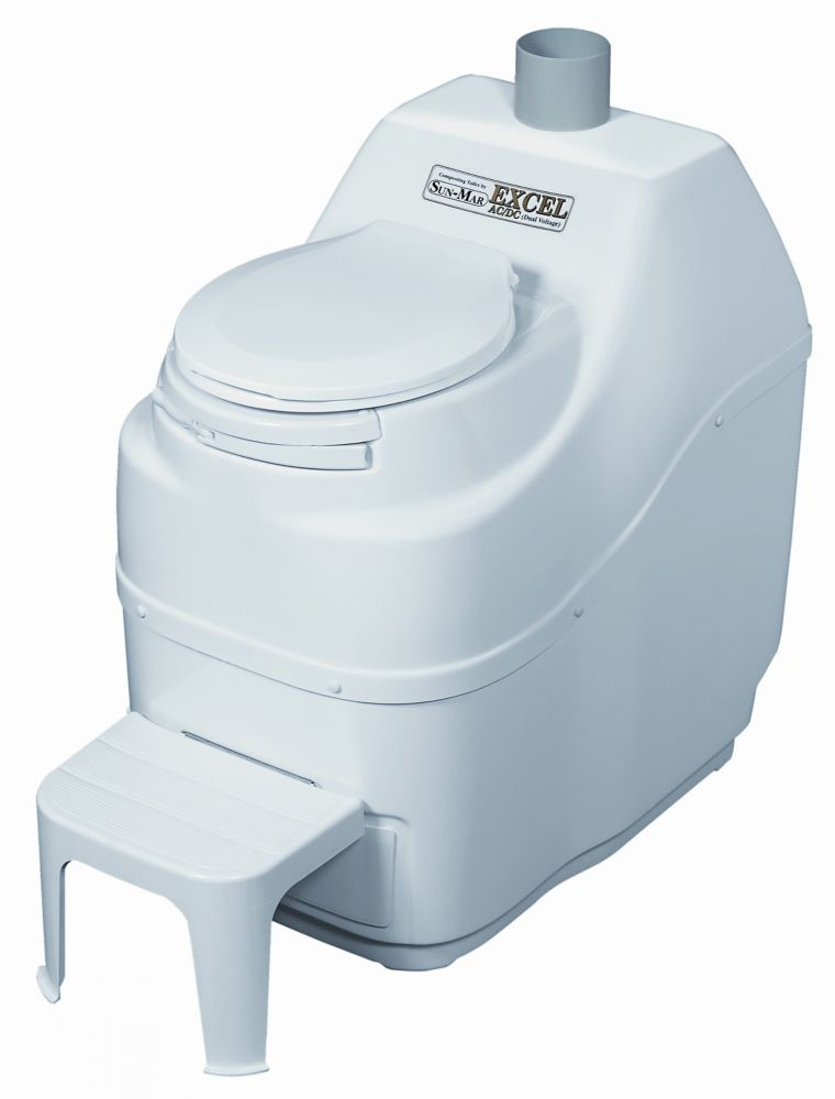 Excel AC/DC Composting Toilet in White