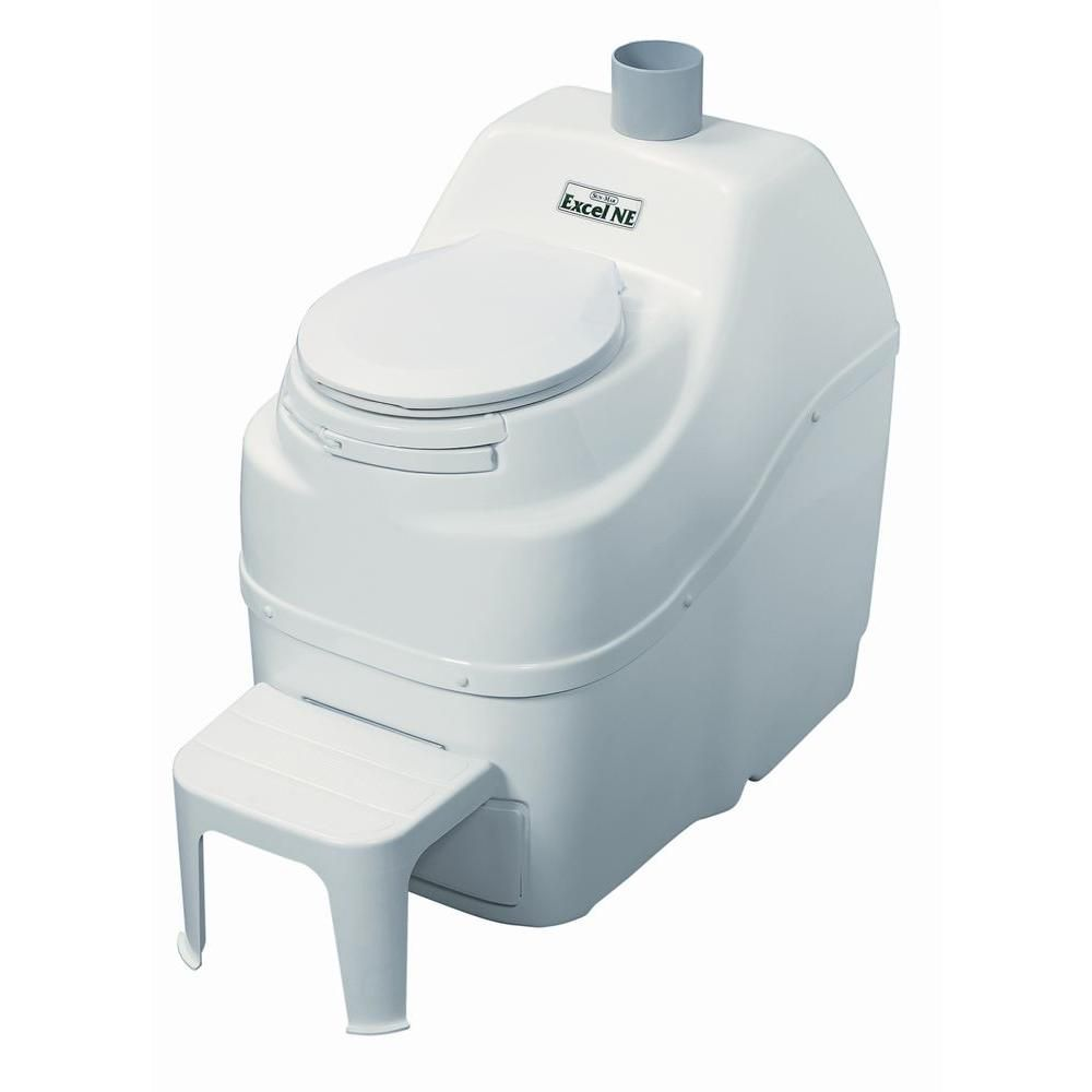 Excel Non-Electric Composting Toilet in White