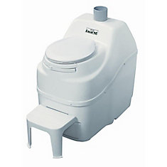Excel Non-Electric Waterless High Capacity Self Contained Composting Toilet in White
