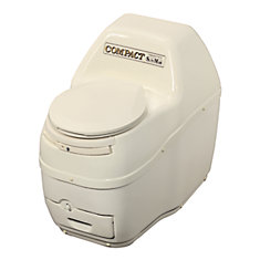 Compact Electric Composting Toilet in Bone