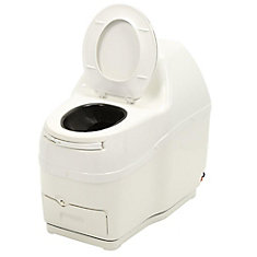 Compact Electric Composting Toilet in White