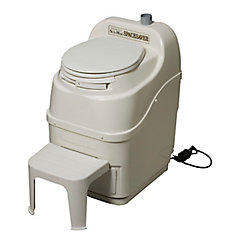 Spacesaver Electric Composting Toilet in Bone