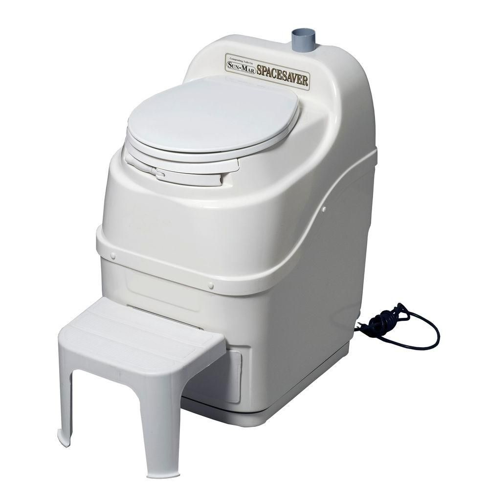Spacesaver Electric Composting Toilet in White