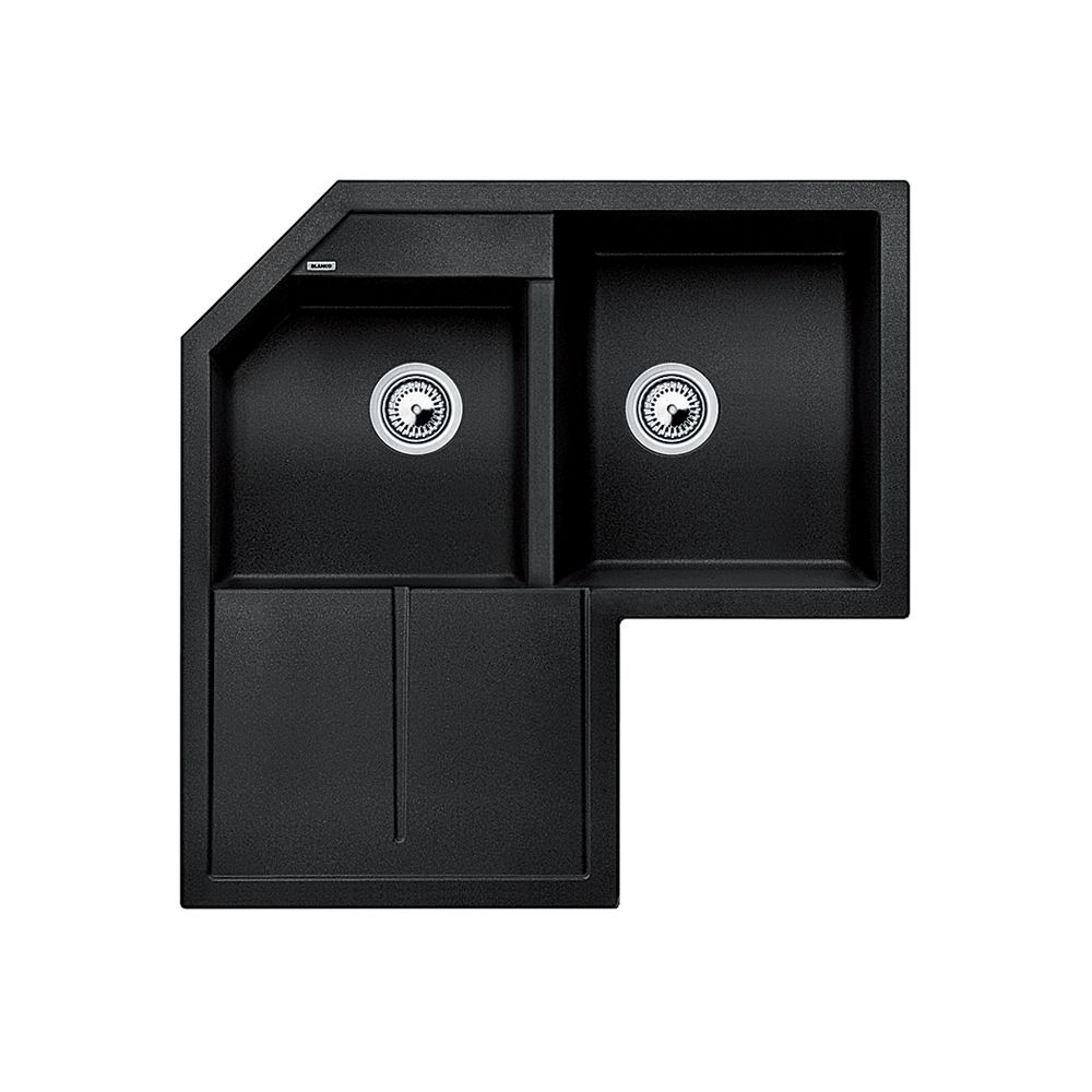 Undermount Corner Kitchen Sink : ... Corner Sink, Drop In Or Undermount, Anthracite The Home Depot Canada
