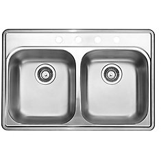 Stainless Steel top mount Kitchen Sink, 4-Hole