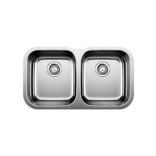 Blanco Undermount 2-Bowl Stainless Steel Kitchen Sink | The Home ...