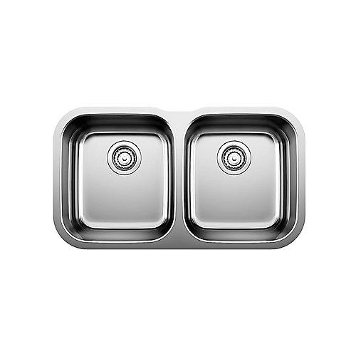 Undermount 2-Bowl Stainless Steel Kitchen Sink