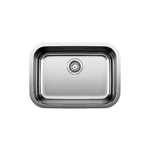 Essential U 1 Single Bowl Undermount Kitchen Sink, Stainless Steel