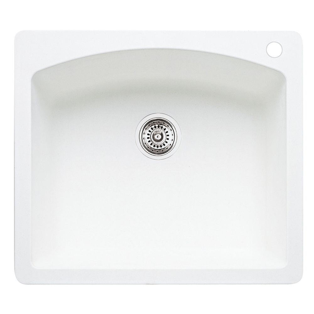 Silgranit Natural Granite, Single Bowl Drop-In Sink, Cognac