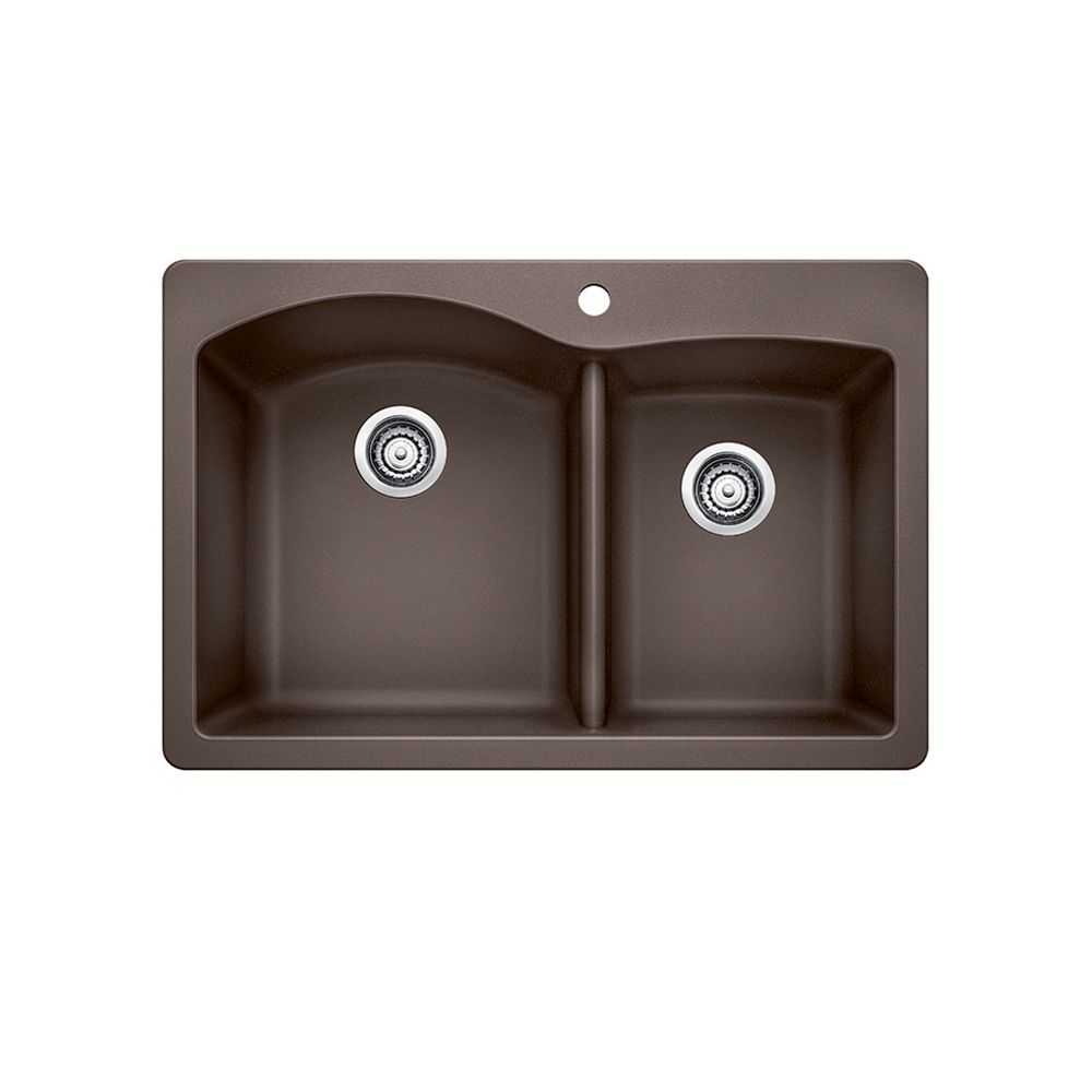 Silgranit, Natural Granite Composite Kitchen Sink, Topmount, Caf SOP1081 Canada Discount