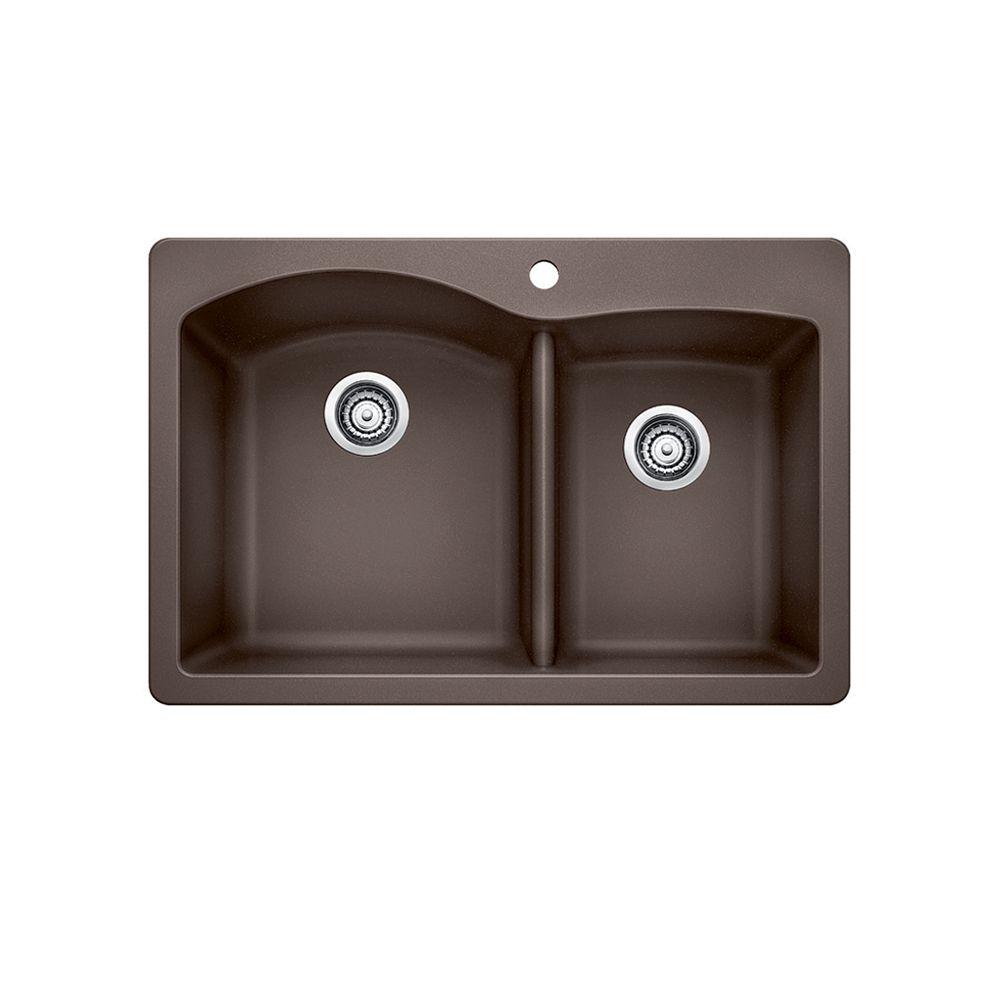 Silgranit, Natural Granite Composite Kitchen  Sink, Topmount, Café