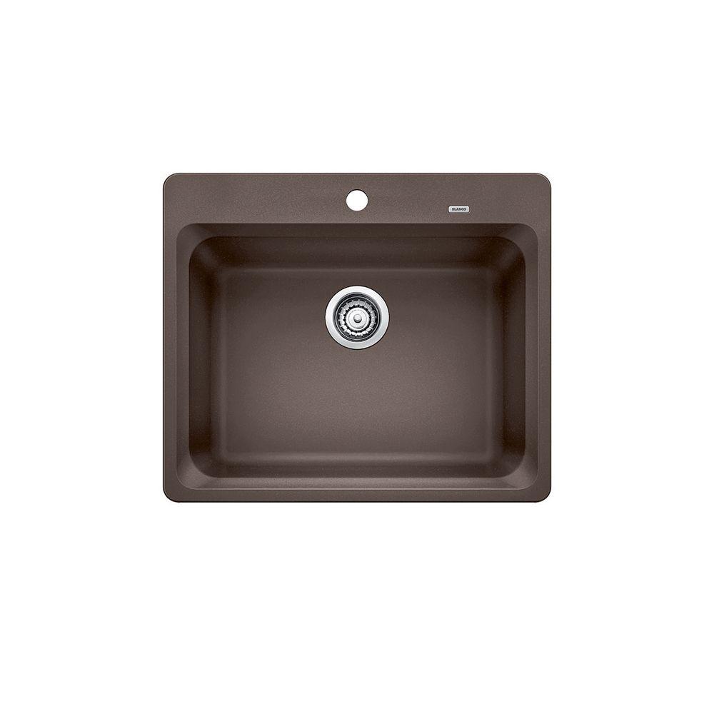Silgranit, Natural Granite Composite, Kitchen Or Island Sink, Topmount, Café