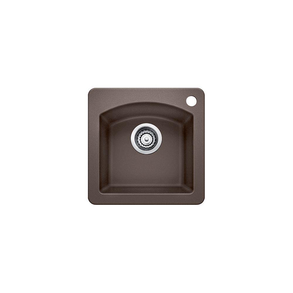 Silgranit, Natural Granite Composite Island Or Bar Sink, Topmount, Café
