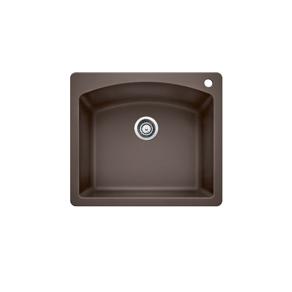 Silgranit, Natural Granite Composite Kitchen Or Island Sink, Topmount, Caf SOP1080 in Canada