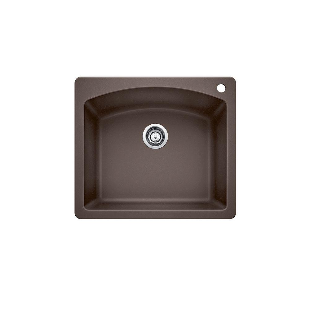 Silgranit, Natural Granite Composite Kitchen Or Island Sink, Topmount, Café