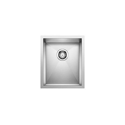 Blanco PRECISION U .75, Single Bowl Undermount Sink, Premium Stainless Steel