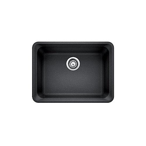 Silgranit Natural Granite Composite Kitchen Or Island Sink, Undermount, Anthracite