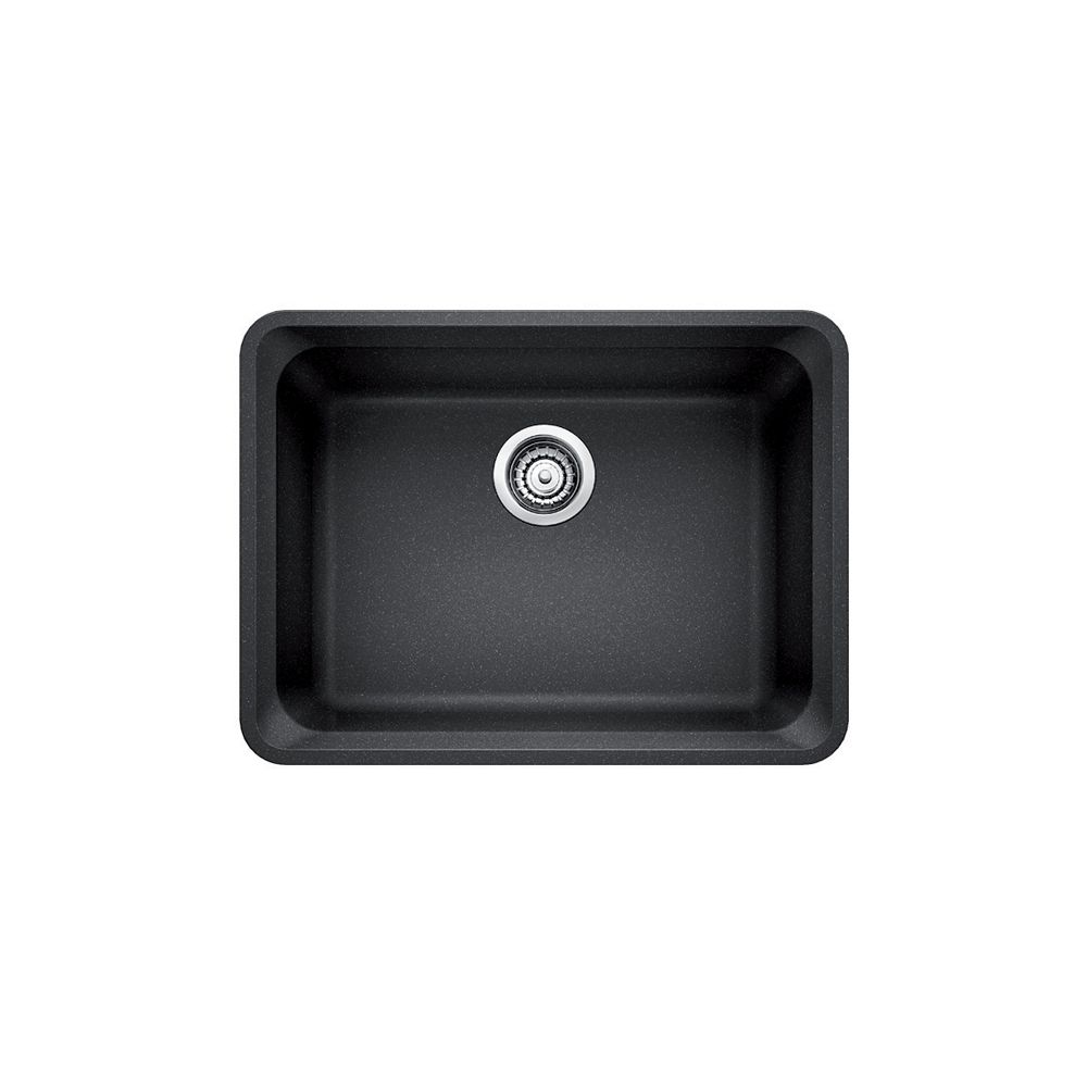 Silgranit Natural Granite Composite Kitchen Or Island Sink, Undermount, Anthracite