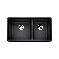 Blanco Silgranit Natural Granite Composite Kitchen Sink, Undermount, Anthracite