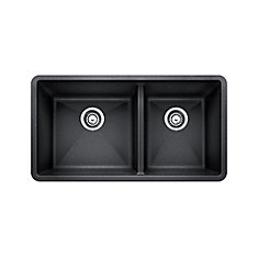 Silgranit Natural Granite Composite Kitchen Sink, Undermount, Anthracite